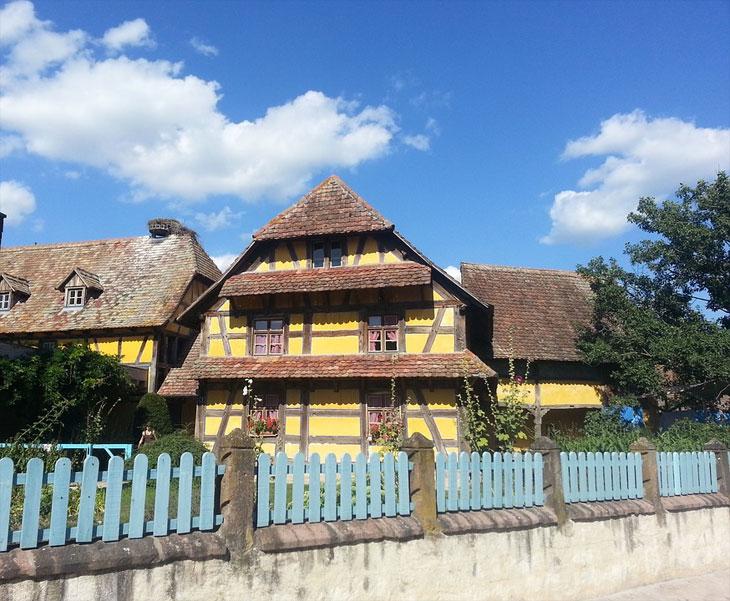 Altes Fachwerkhaus in den Vogesen